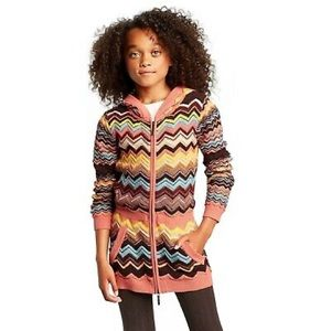 Missoni for Target Girls Knit Hoodie Sweater M